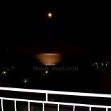 Вид с балкона ночью,  в полнолуние весной 2020.