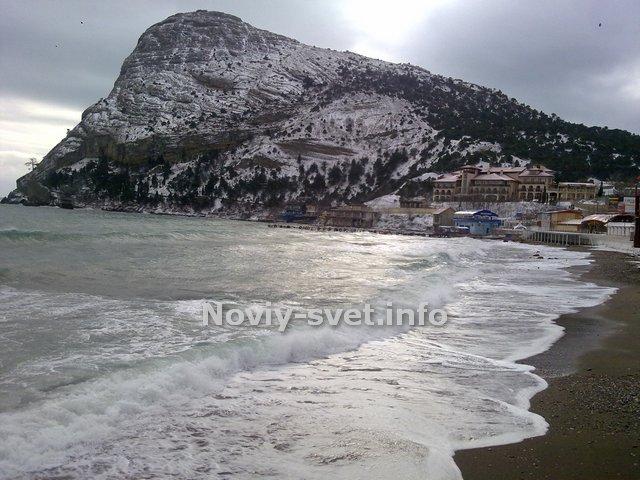 Пляж зимой